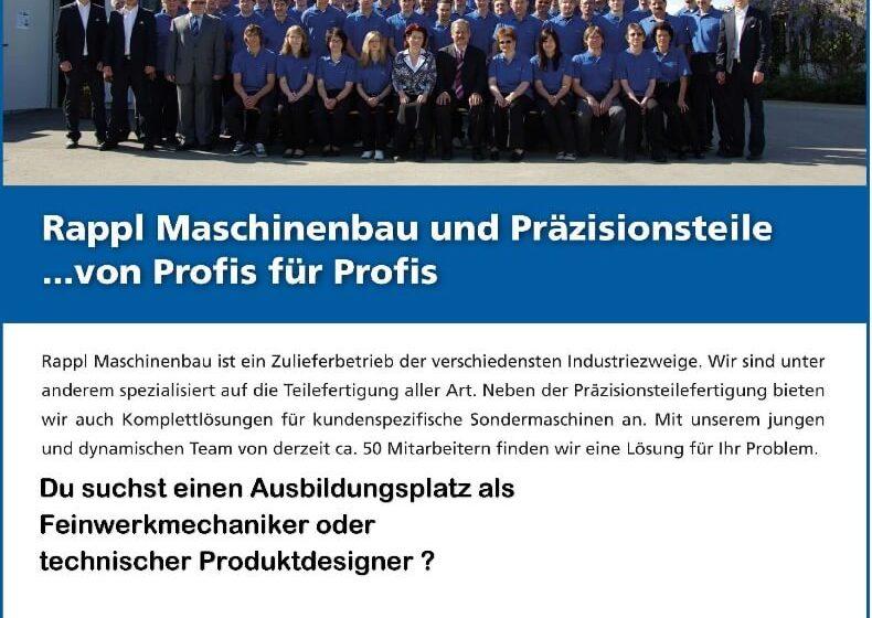 Flyer für den Tag der Ausbildung 2019 bei Rappl Maschinenbau GmbH